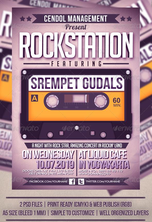 Rock Station Music Flyer Template Pinterest Music Flyer Flyer