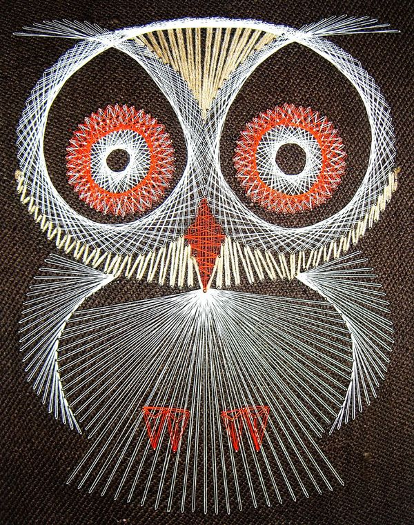 String Art Is Awesome. I Remember Going To My Aunt And Uncles House As A  Young Child And Admiring The String Art Owls On The Wall.