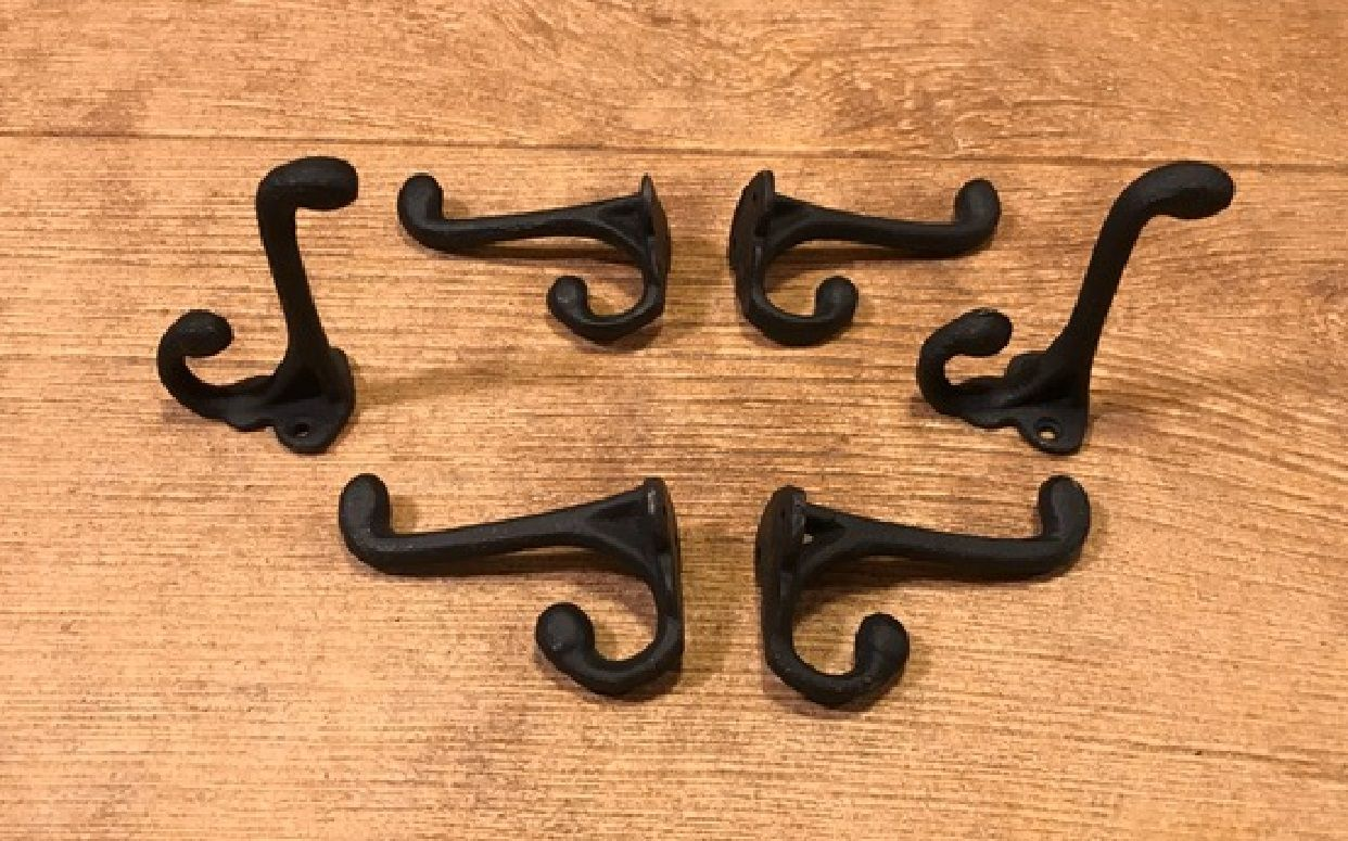 Pin By Nanook S Ebay Store On Cast Iron Wall Hook Black 01202b