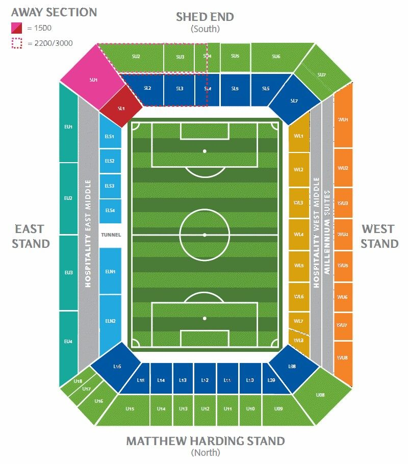 Stamford Bridge Map Official Seating Layout   Stamford Bridge: Chelsea FC | Stamford  Stamford Bridge Map