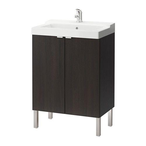 Lillangen Talleviken Element Pour Lavabo A 2 Portes Noir Brun Ikea Meuble Lavabo Diy Rangement Chambre Ikea
