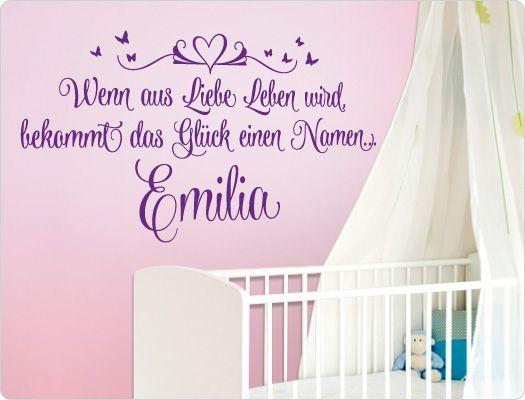 Wandtattoo m dchen wandtattoos als wanddekoration baby for Wanddekoration babyzimmer