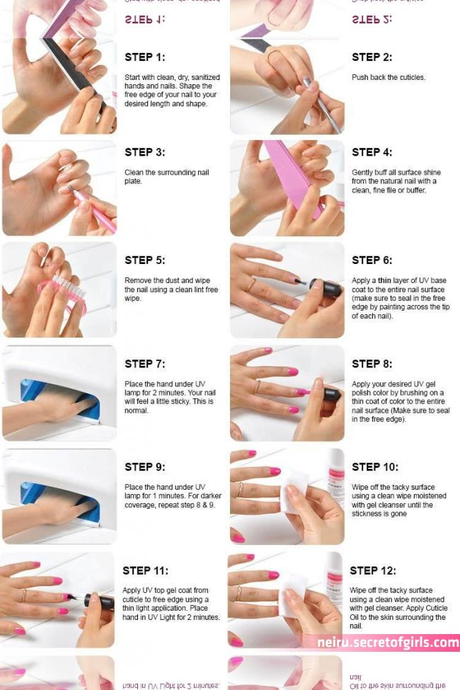 Gel Guide Items Manicure Nails Step Uv World Http Funcapitol Com Uv Gel Nails Step By Guide Diy Acrylic Nails Gel Nail Tutorial Gel Nails Diy