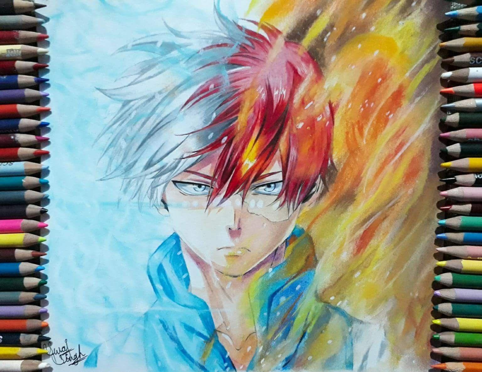 Todoroki Shoto Art Anime Art Drawings