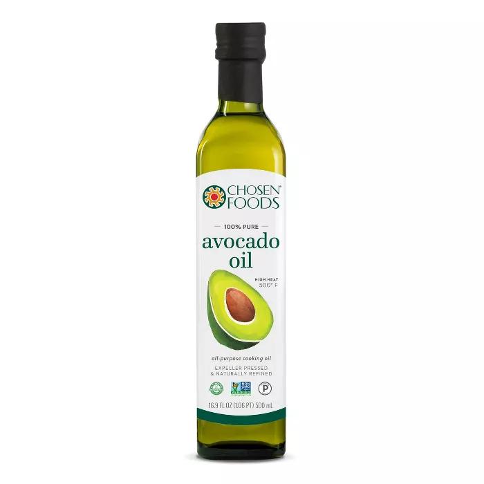 Chosen Foods 100 Pure Avocado Oil 16 9oz In 2021 Chosen Foods Food High Heat Cooking Oil