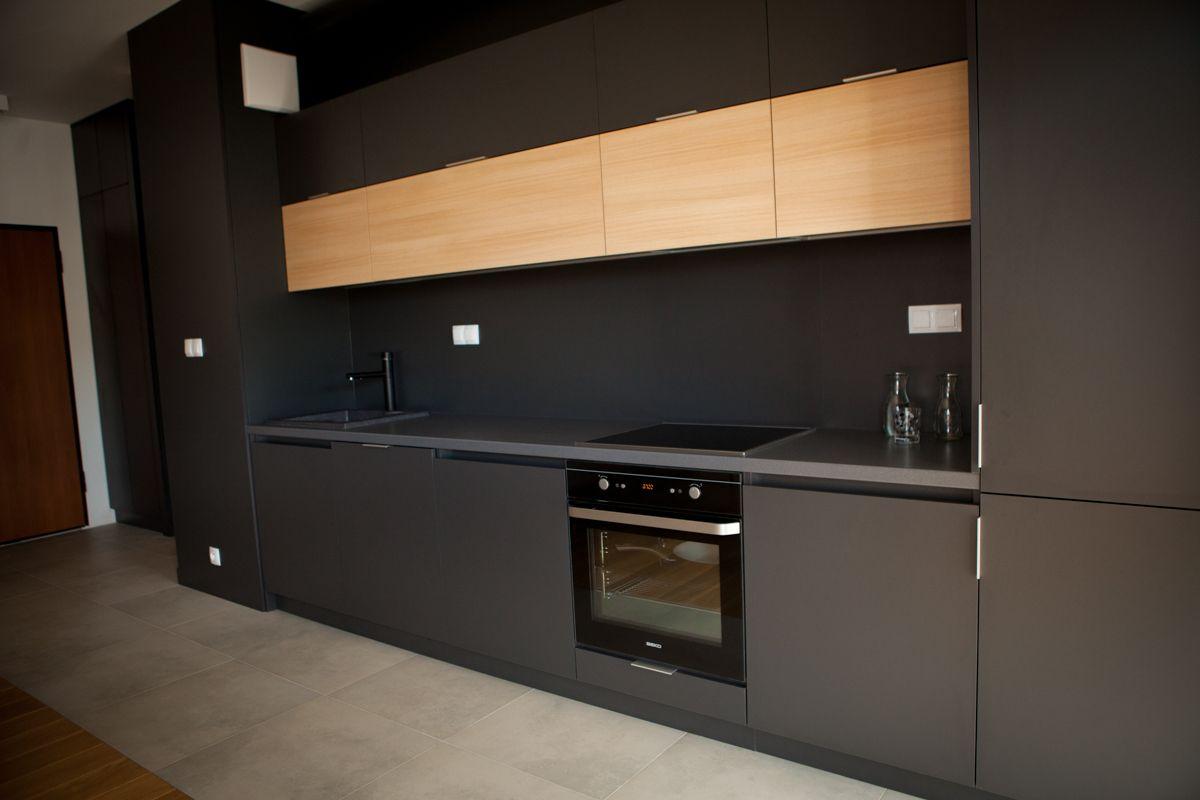 Kuchnia Czarna Z Drewnem Ikea