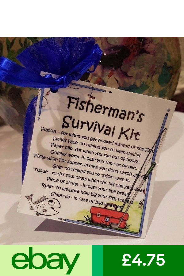 Blue Unique Fun Novelty Gift /& Card All In One Birthday Survival Kit