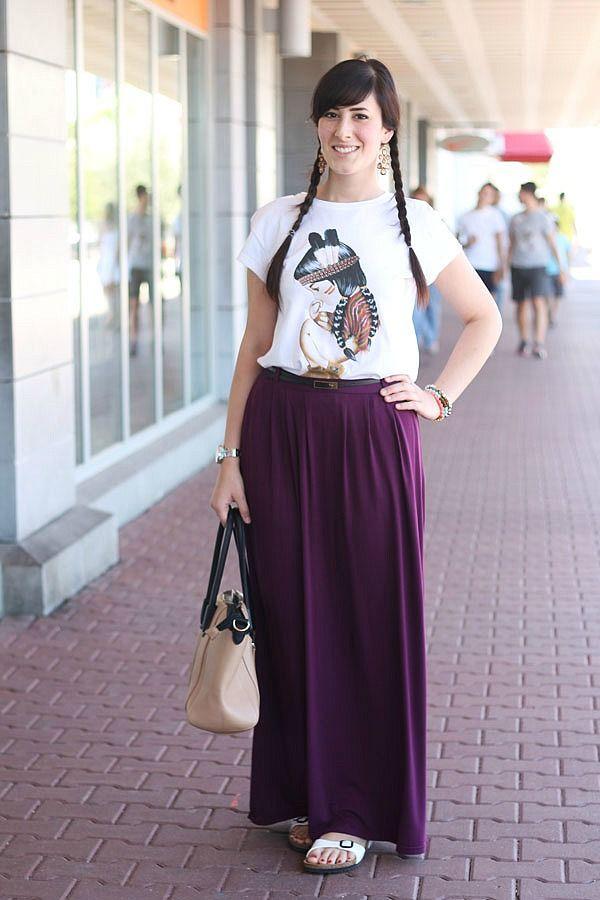 gown placard Susceptible to  Come indossare la gonna lunga in Estate? Tante idee outfit fresche e  colorateLe FreakS - Fashion Blogger Roma « Le FreakS - Fashion…   Gonne,  Outfit, Come indossare