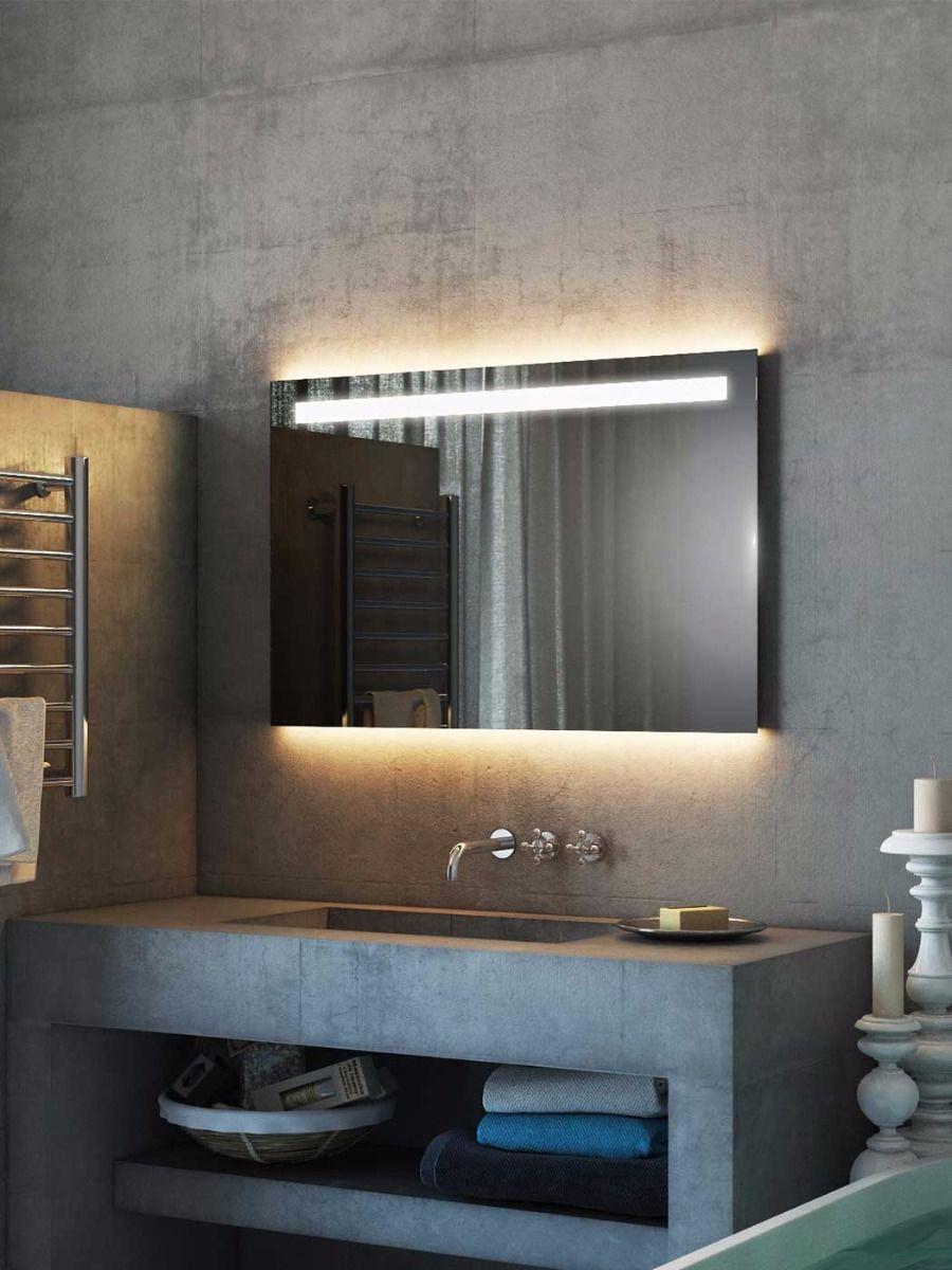 Argent Wide Led Light Bathroom Mirror Shower Mirror Bathroom