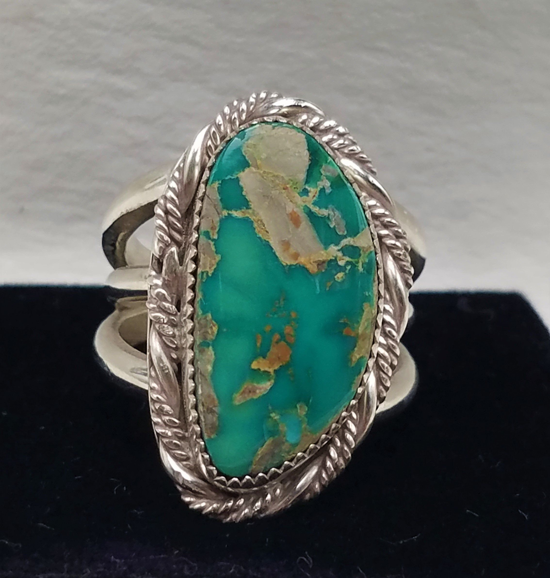 vintage size 6 Royston turquoise sterling silver ring
