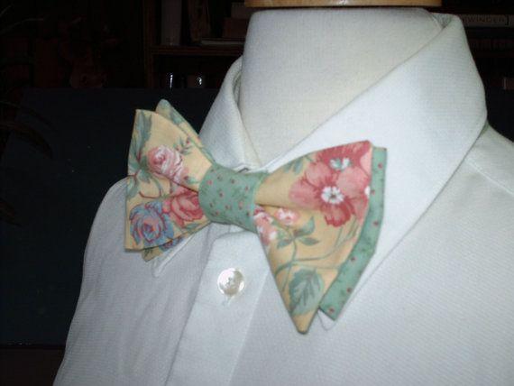 Country Wedding / Custom Made Mens Bow Tie by CarolynnRedwineGeer $58