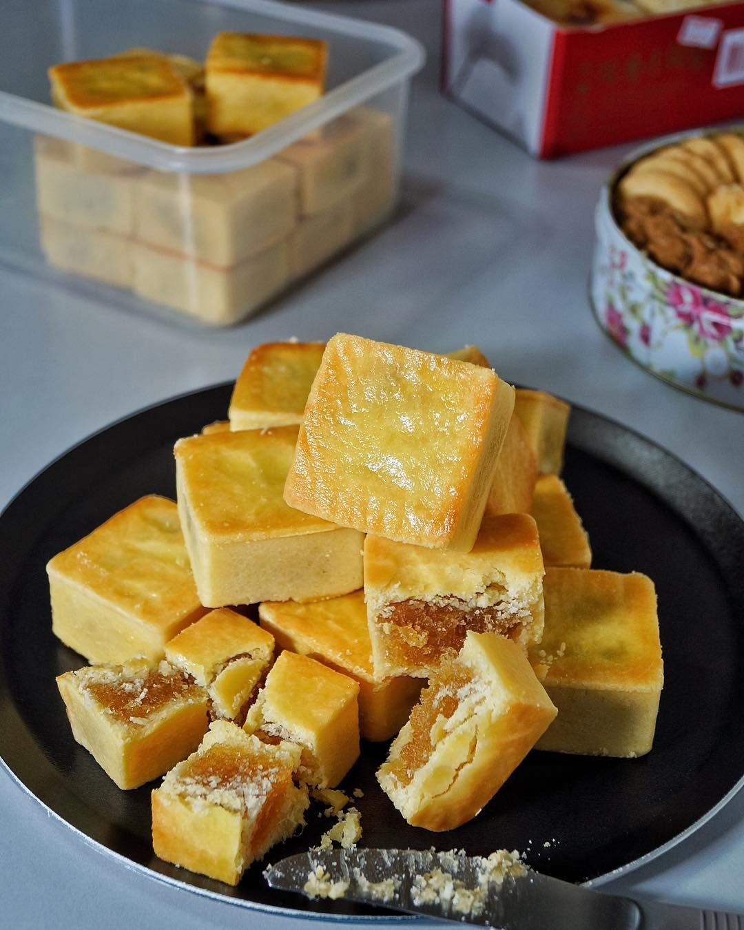 Taiwan pineapple cake (鳳梨酥) - candied winter melon pineapple maltose milk powder pastry. Still one of my favourite pastries I've ever made. The rest are loots that I've gotten from HK and Taiwan  Would be grateful for any recommendations on where I can buy good wife biscuit from HK by jonathanloong