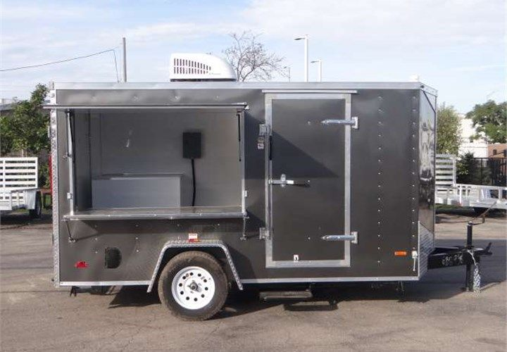6 X 12 Custom Cupcake Concession Trailer This Trailer Was Outfitted With Upgraded Wall Framing A Solid A Food Trailer Food Trailer For Sale Custom Bbq Pits