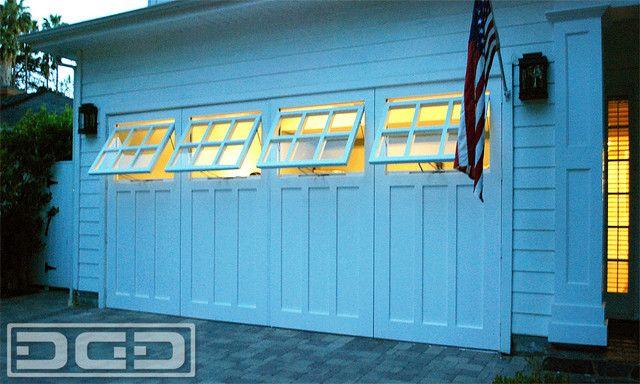 Carriage Garage Door Ideas With Functional Awning Windows Garage Doors Garage Door Types Garage Door Styles