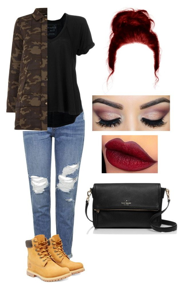 """""""y"""" by kimba515 ❤ liked on Polyvore featuring Topshop, Free People, Dr. Denim, Timberland, Kate Spade, women's clothing, women, female, woman and misses"""