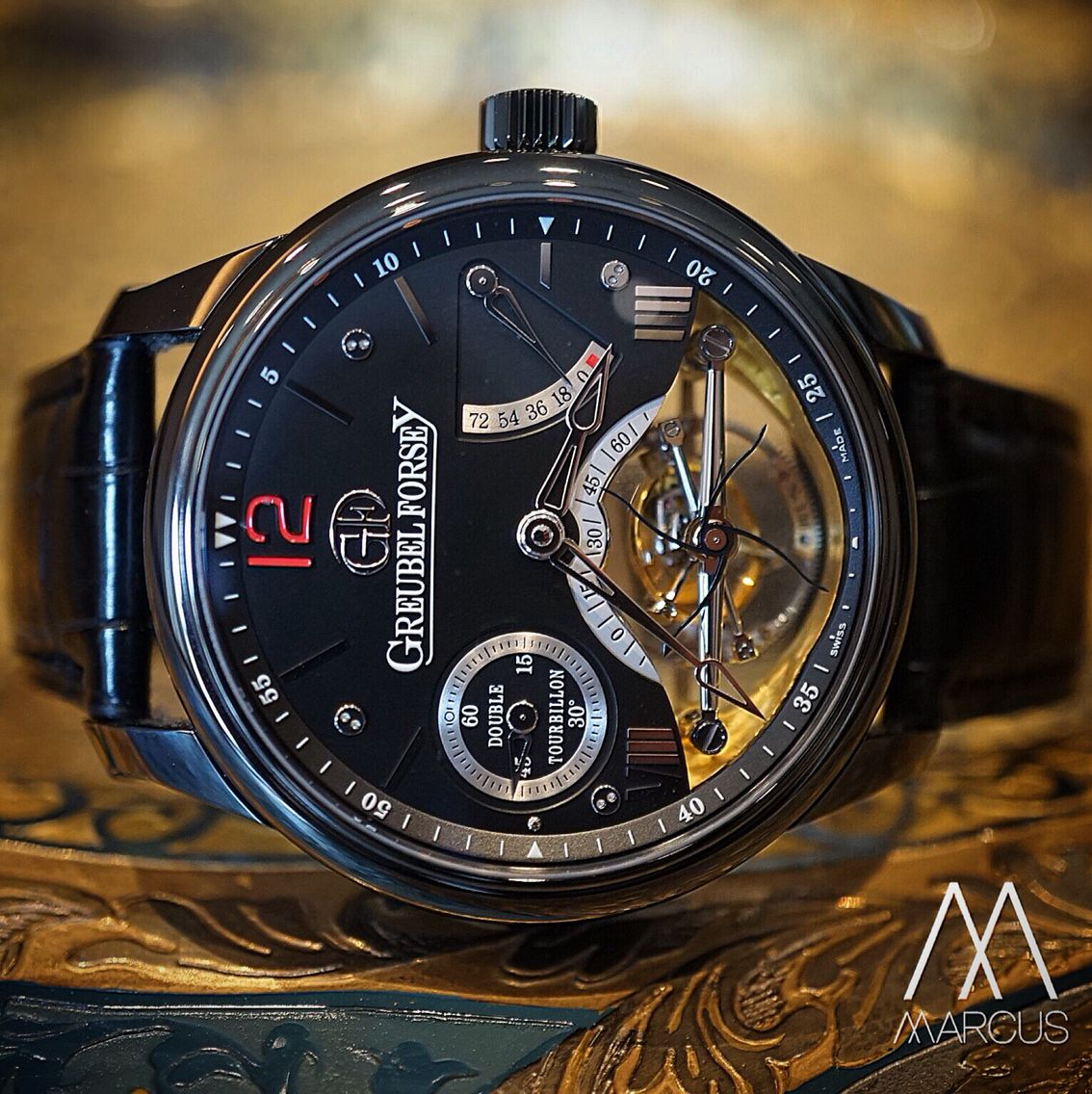 Is that a vision I see before me? The unique Greubel Forsey double tourbillon Vision!
