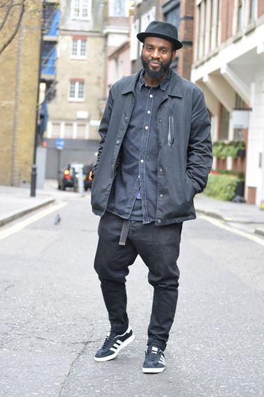 Dark denim shirt, Trainers outfit, Mens