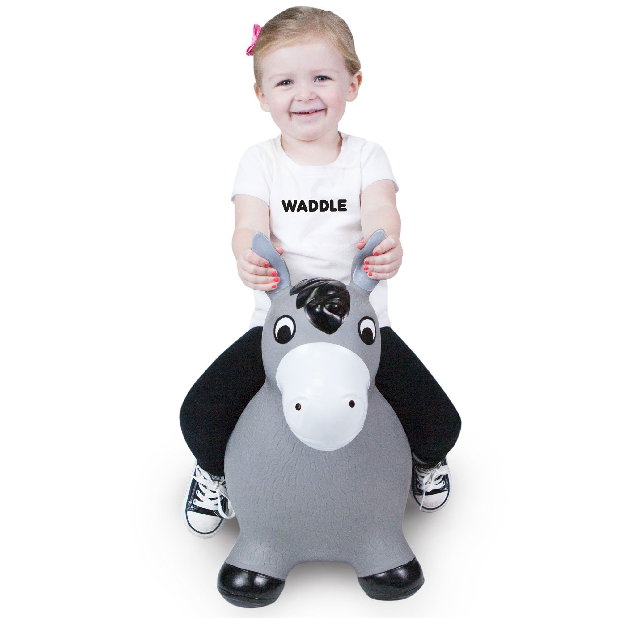 Waddle Bouncy Horse Hopper Inflatable Farm Animal Ride Toy with