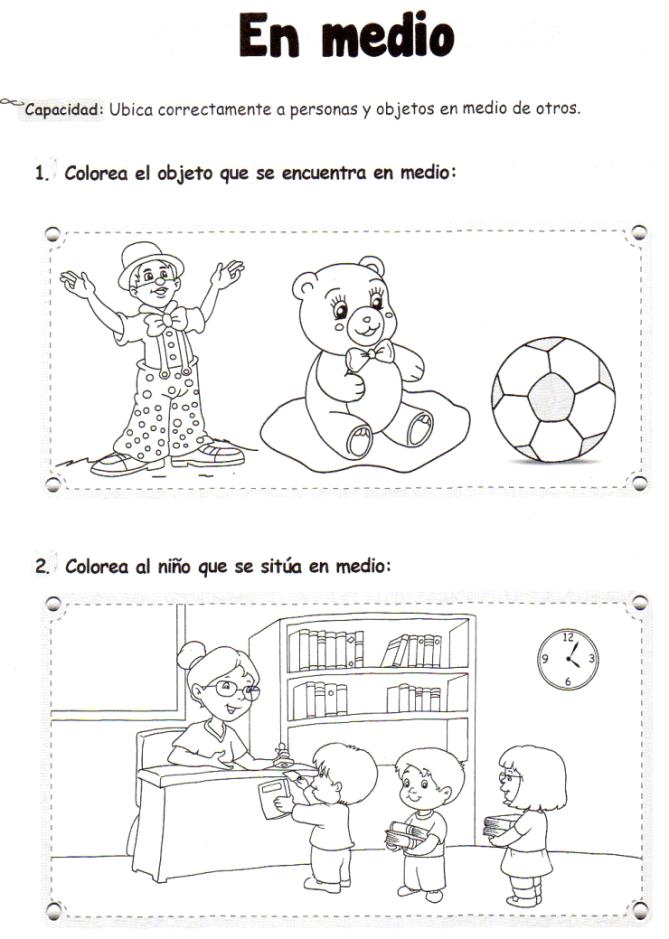 En medio: 5 años - Material de Aprendizaje | Preescolar imprimir ...