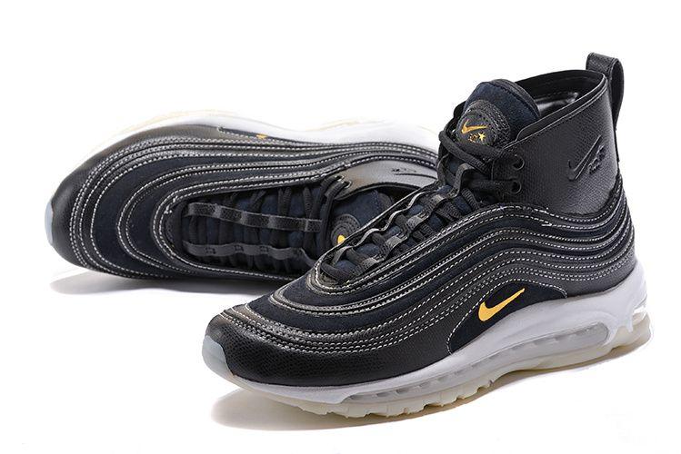 Cheap Nike Air Max 97 X 20TH #black #gold #High Men shoes Only