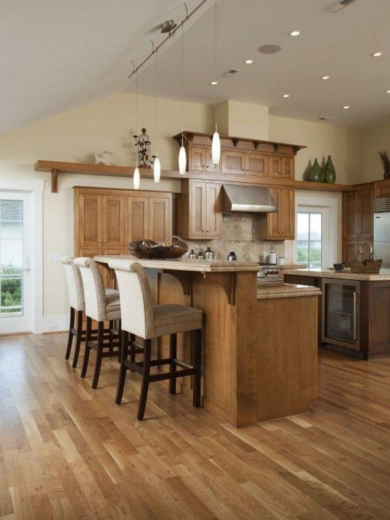 35 beautiful kitchen paint colors ideas with oak cabinet