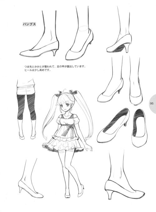 How to draw feet and shoes tutorial anime style