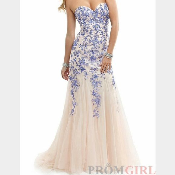 Prom dress | Mermaid silhouette, Military ball and Blue lace