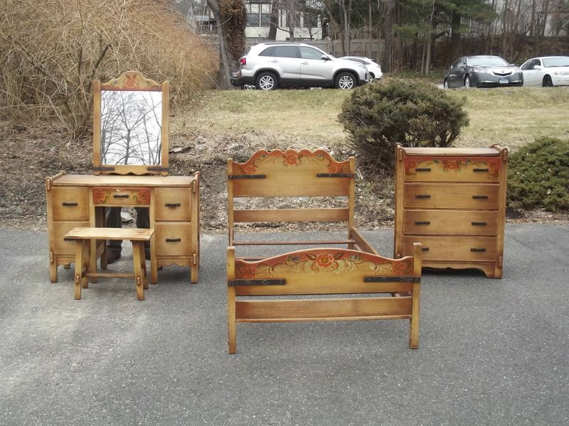 Vintage CALIFORNIA Monterey Furniture BEDROOM Set Vanity ...