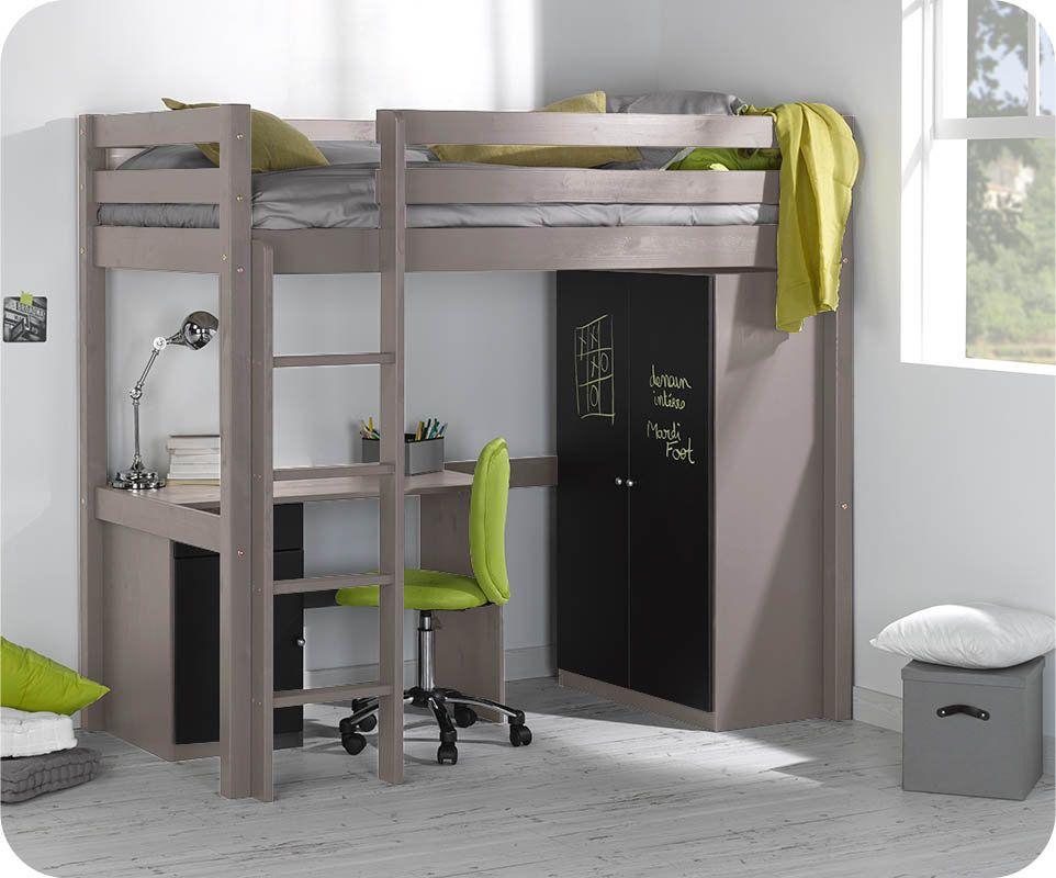 chambre avec set lit enfant mezzanine cargo lin