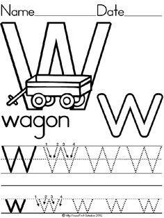 Alphabet letter w wagon standard block manuscript handwriting alphabet letter w wagon standard block manuscript handwriting practice worksheet preschool printable spiritdancerdesigns Images