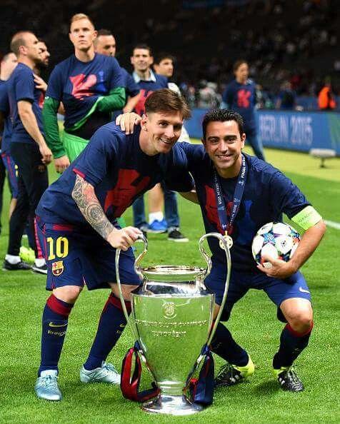 Xavi's and Messi