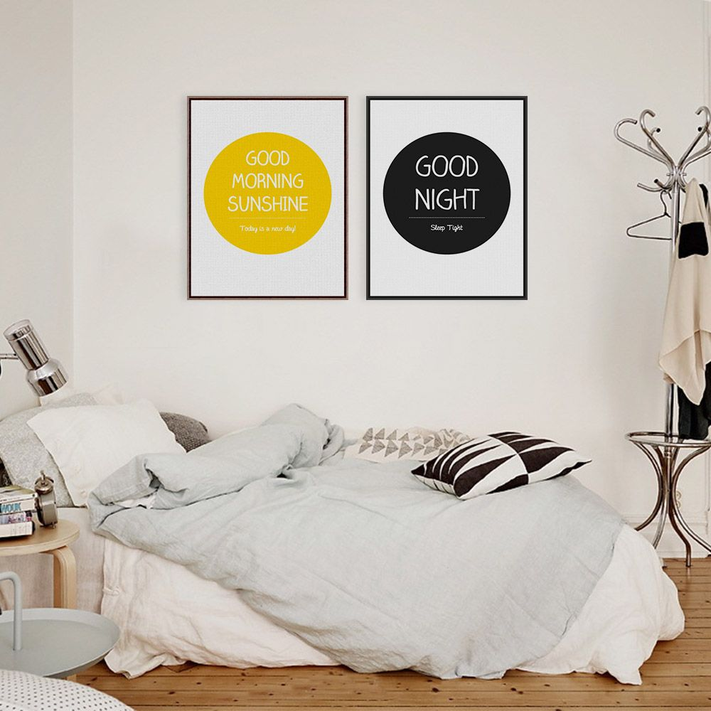 Black White Modern Inspirational Quotes Typography Pop A4 Poster