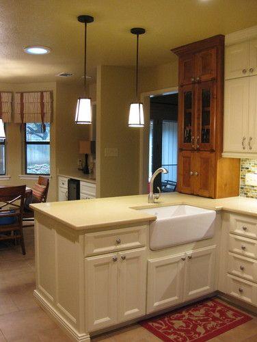 Appliance garage at end of peninsula New kitchen designs