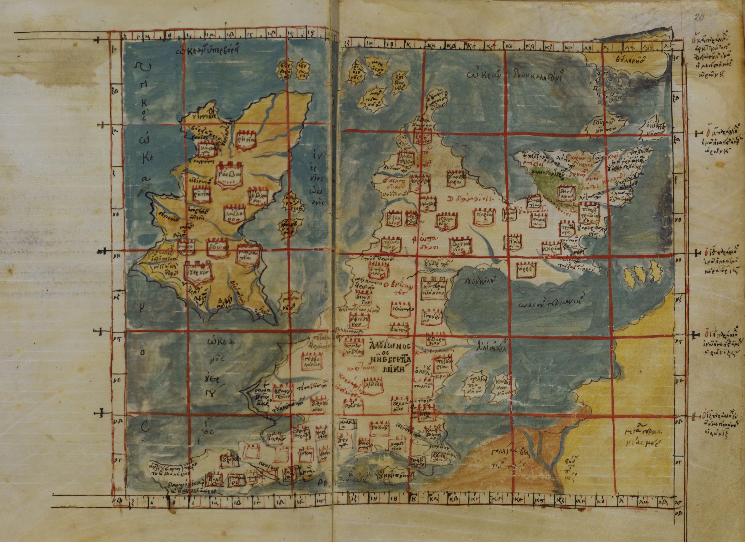 The Codex Vatopedinuss Ptolemaic map of the British Isles