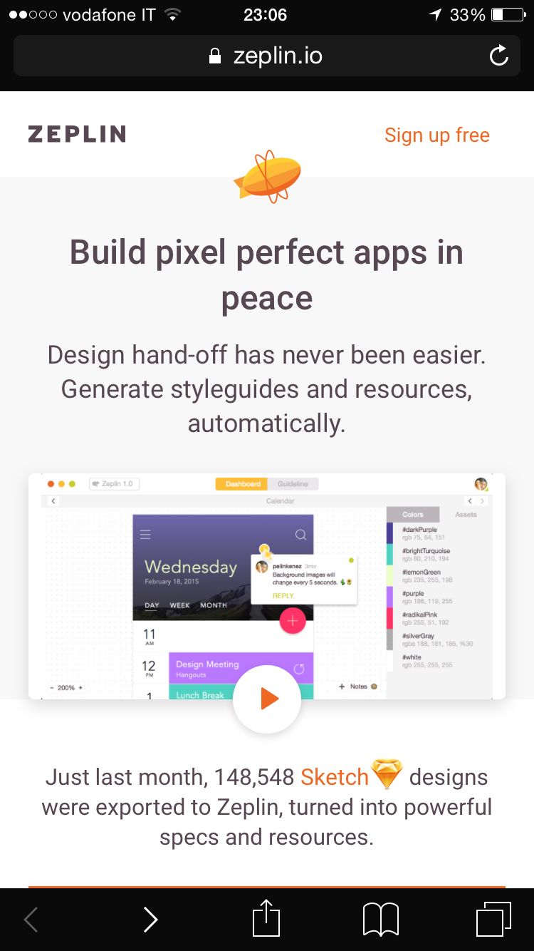 Specification tools for sketch