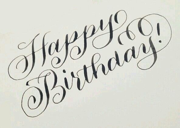 Happy Birthday Cake Writing Caligraphy Font Typography Handwriting Fonts Blessings