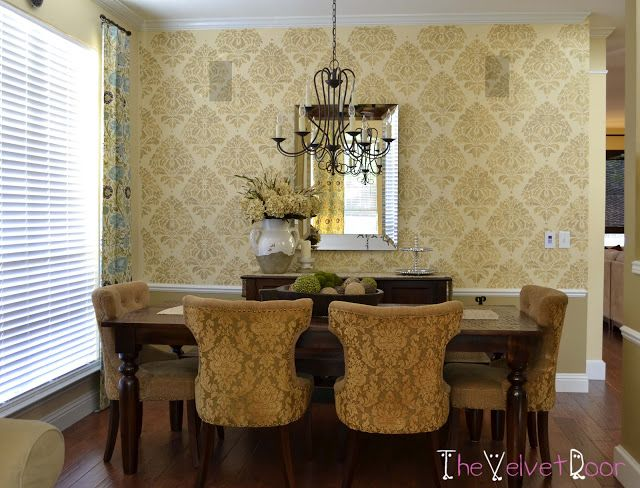 Monday Makeover A Heritage Grill Stenciled Living Room