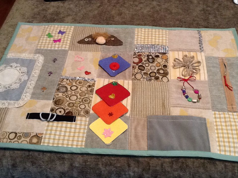 To Be Donated To Local Alzheimers Patients Quilts Fidget Quilt Fidget Blankets