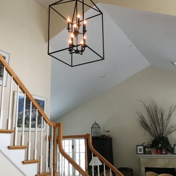 Laurel foundry modern farmhouse odie 8 light foyer pendant aloadofball Image collections