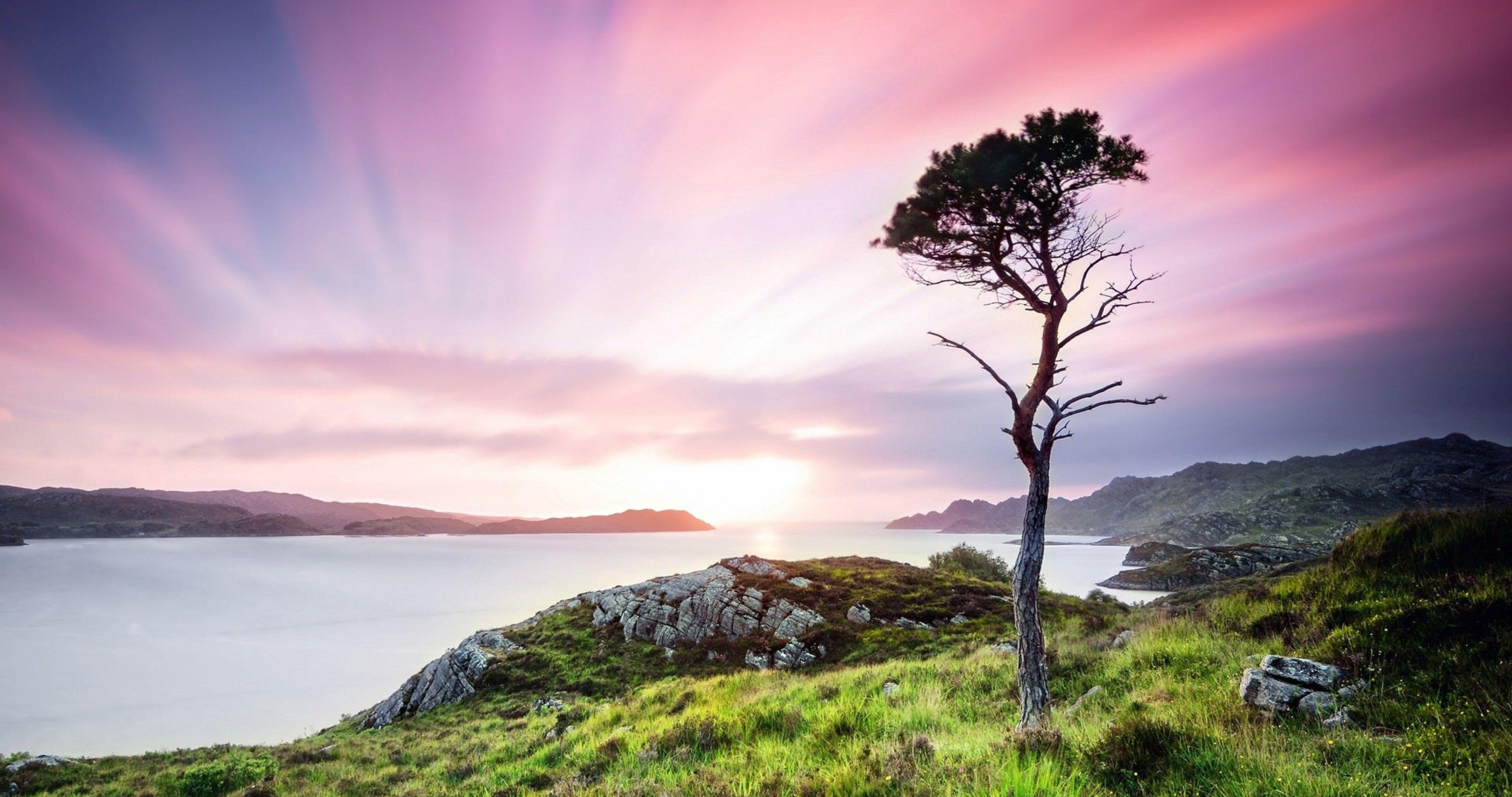 United Kingdom Scotland Twilight Landscape Wide 4k Ultra Hd Wallpaper Landscape Scotland Wallpaper Nature