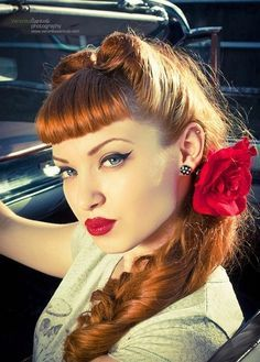retro 50's hairstyles with bangs