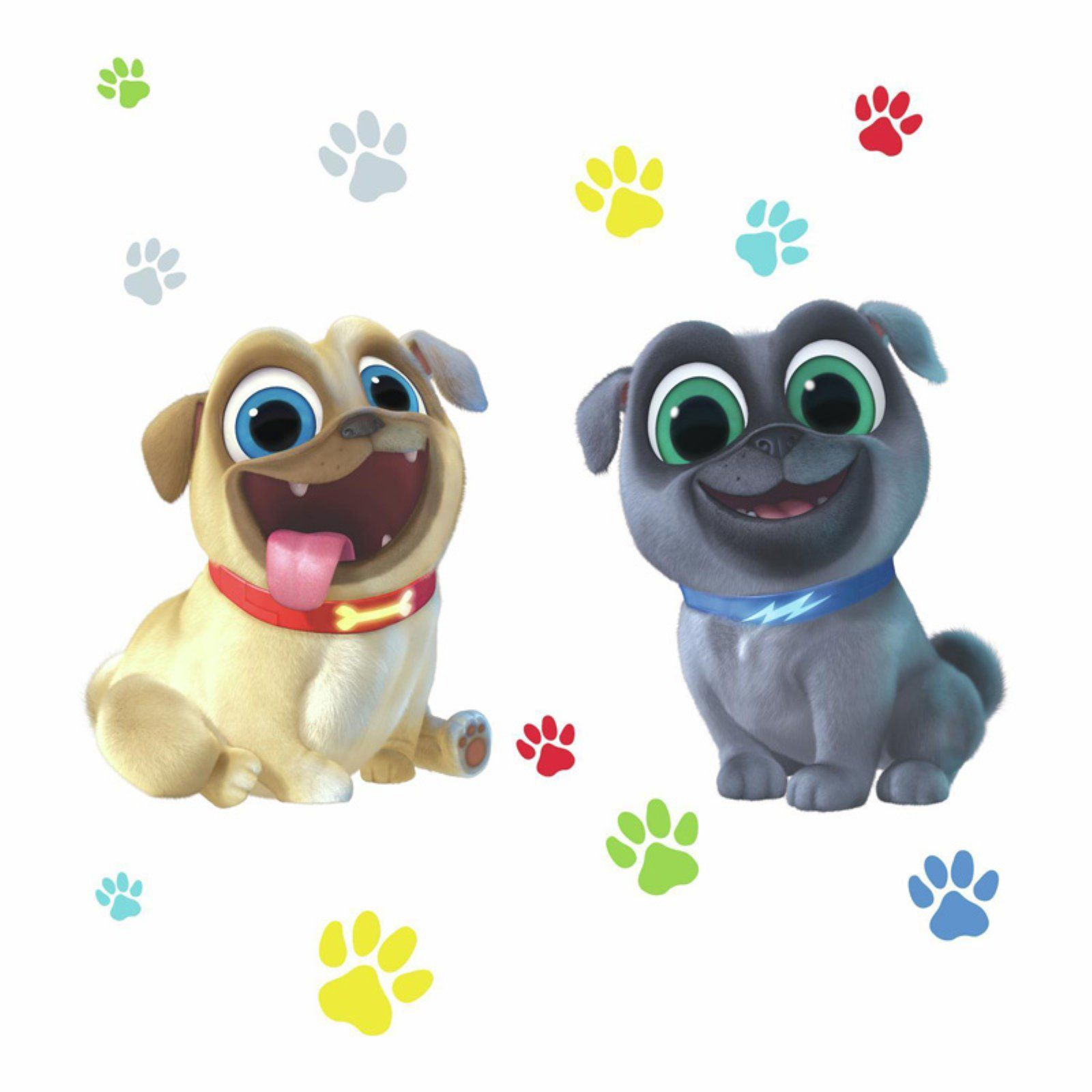 Roommates Puppy Dog Pals Peel And Stick Giant Wall Decals Puppy Paws Puppy Paw Prints Dogs And Puppies