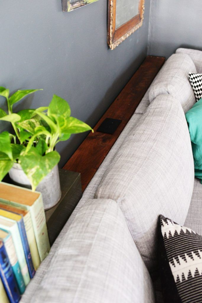 Diy Narrow Sofa Table With Outlet Narrow Sofa Narrow Sofa Table Sofa Table Styling