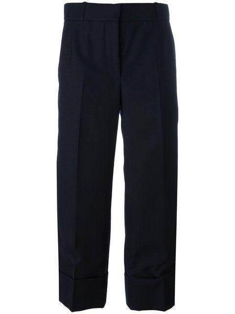 wide leg cropped pants - Blue Thom Browne AuhrP7eW09