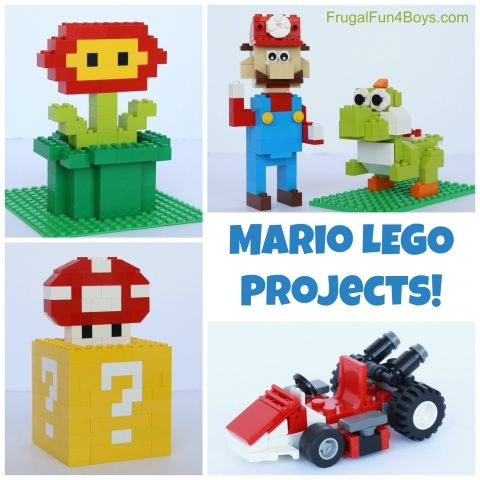 Custom Set WITH Instructions to Build LEGO Fire Mario Building Set