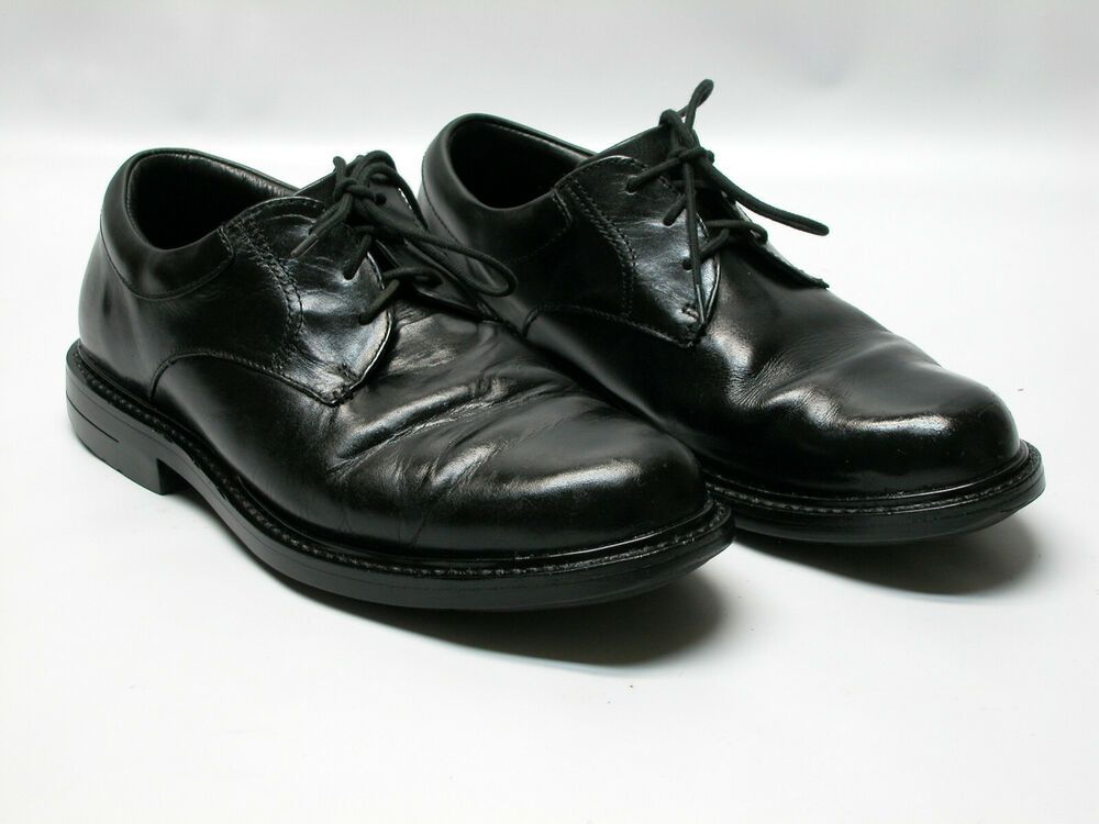 Red Wings Men S Black Leather Work Oxfords Soft Toe Shoes