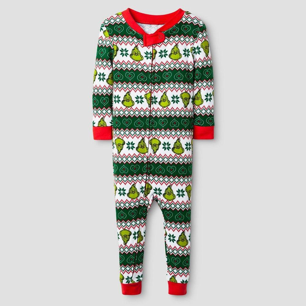 8faef4c56915 Dr. Seuss  The Grinch Baby Pajamas Multi-color 12M