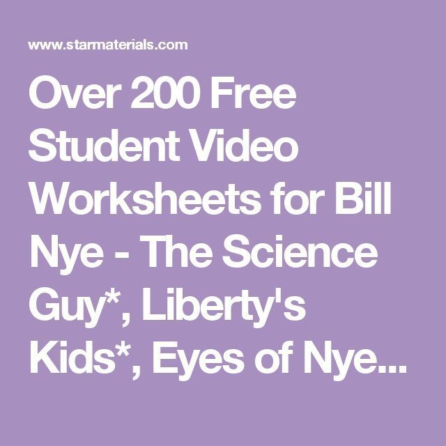 Differentiated Video Worksheet Quiz Ans For Bill Nye
