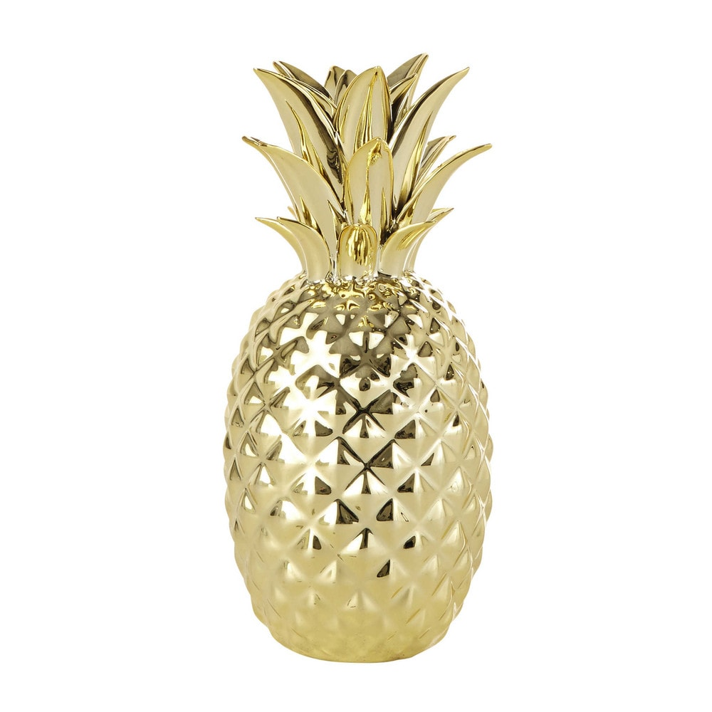 Statuettes Figurines In 2020 Pineapple Ornament Gold