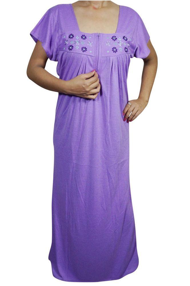 Indiatrendzs Women Sexy Hosiery Nighty Solid Maxi Sleepwear Nighty 42